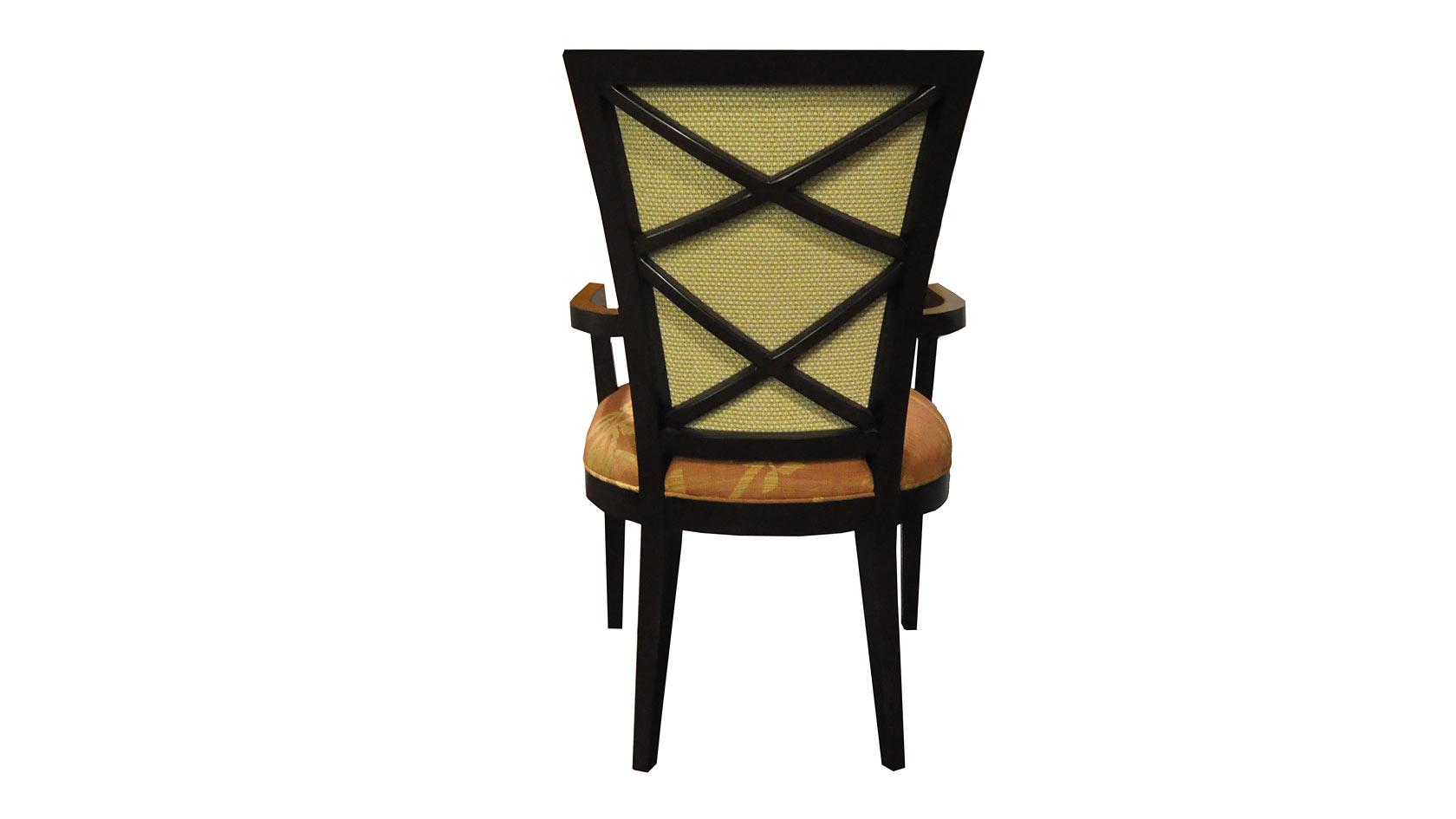 carlisle double x back dining arm chair
