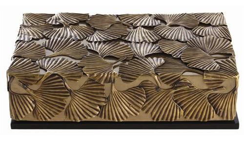 Ginko Leaf Sculpture Box