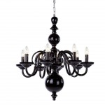 Plush Home_tulip-8-arm-chandelier_Black Hyalit Glass