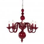 Plush Home_tulip-8-arm-chandelier_Carmine Glass