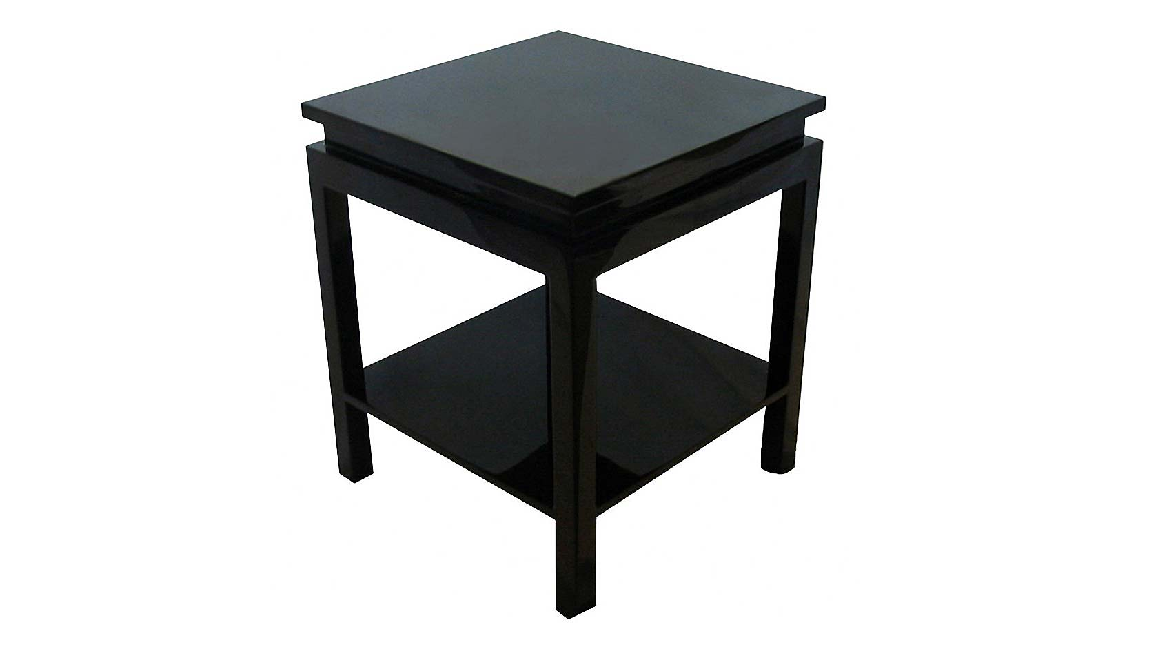 ming end table with shelf, lacquered