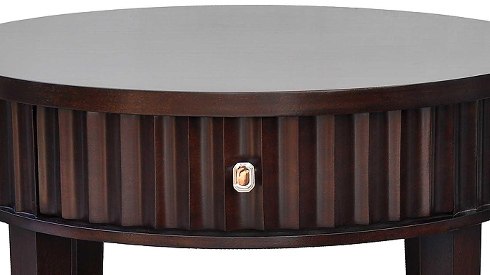 lexington round bedside table