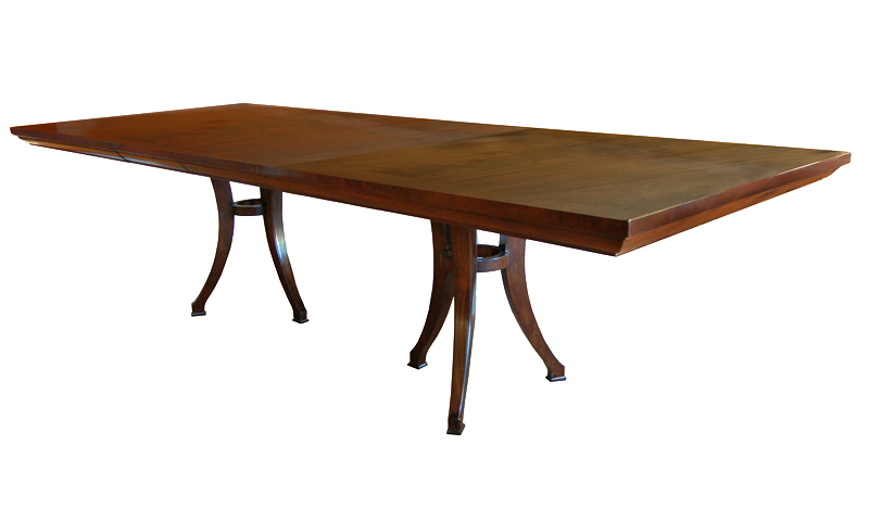 oxford double pedestal dining table
