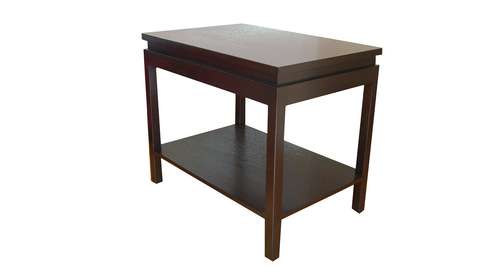 ming rectangular end table with shelf