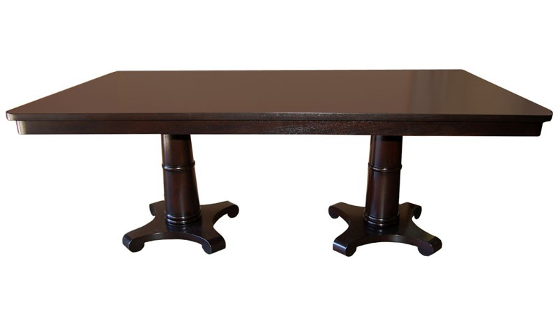 st. denis double pedestal dining table