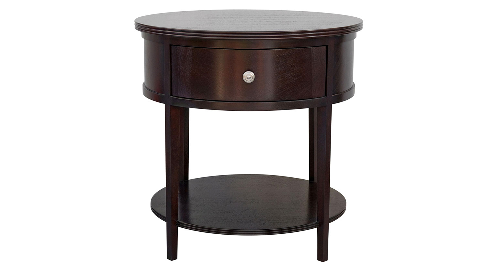 carlisle round bedside table