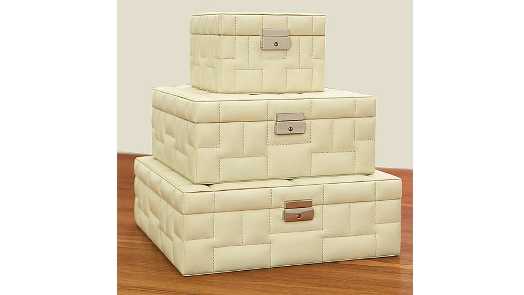 Barcelona Quilted Leather Boxes