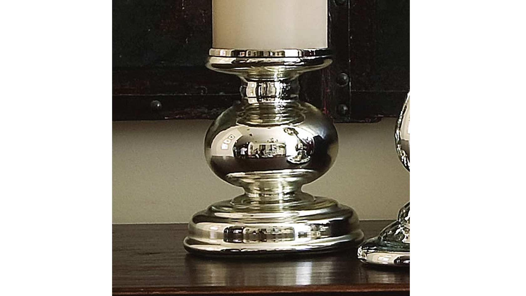 First Emperor's Mercury Glass Candle Holder