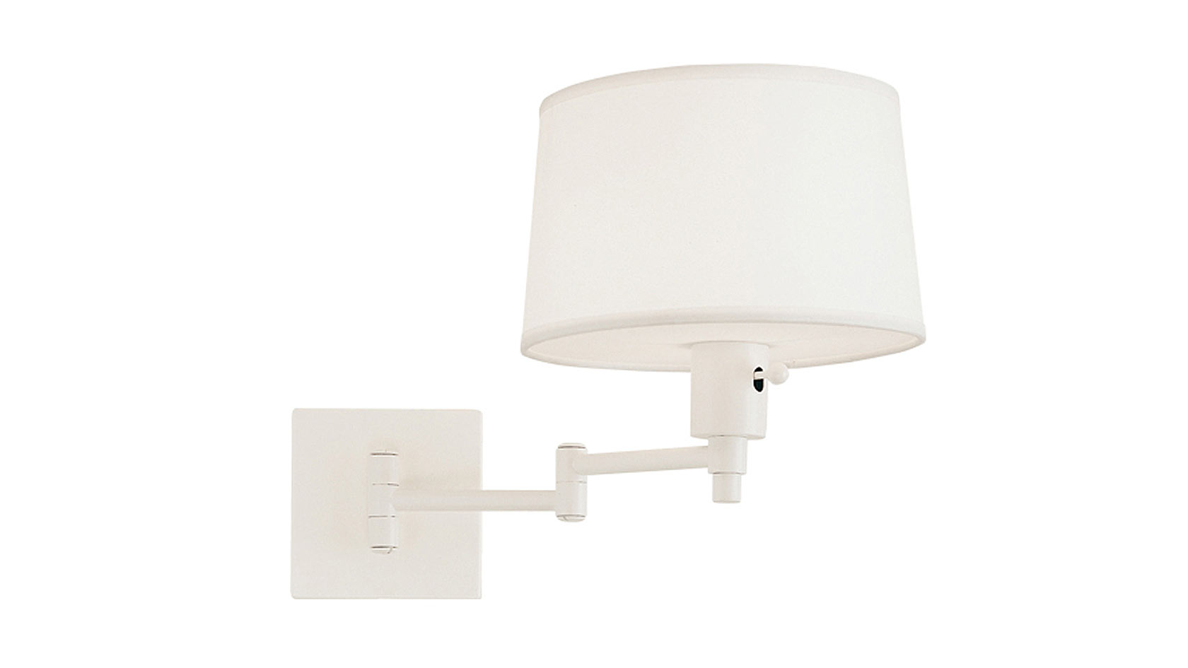 Palm Springs White Swing Arm Wall Sconce