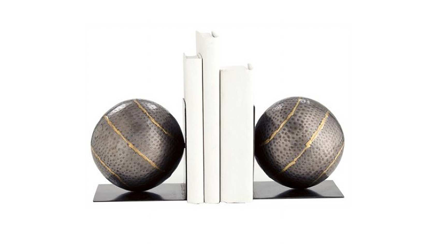 hammered-ball-bookends