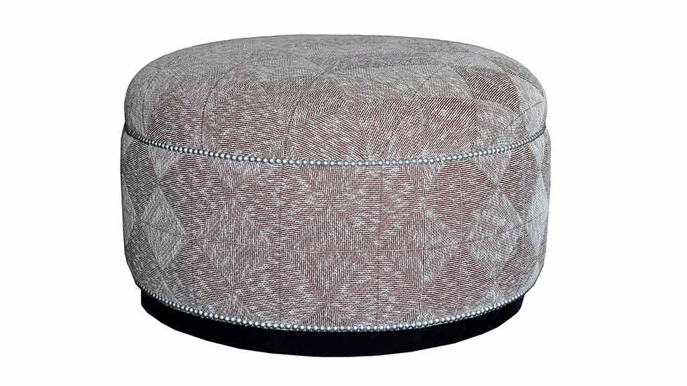 park avenue ottoman with wood base