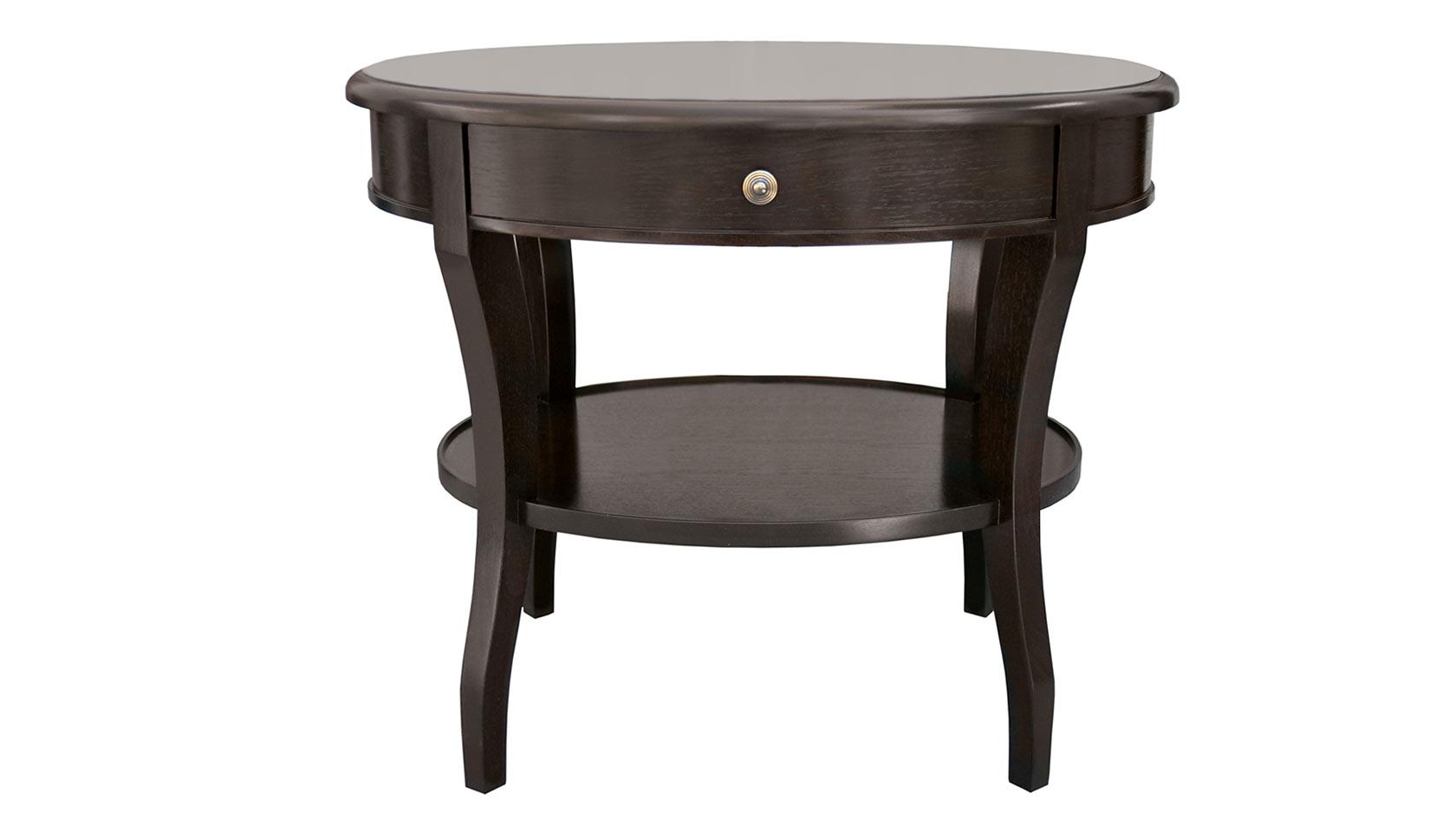 Saber Leg Round Bedside Table