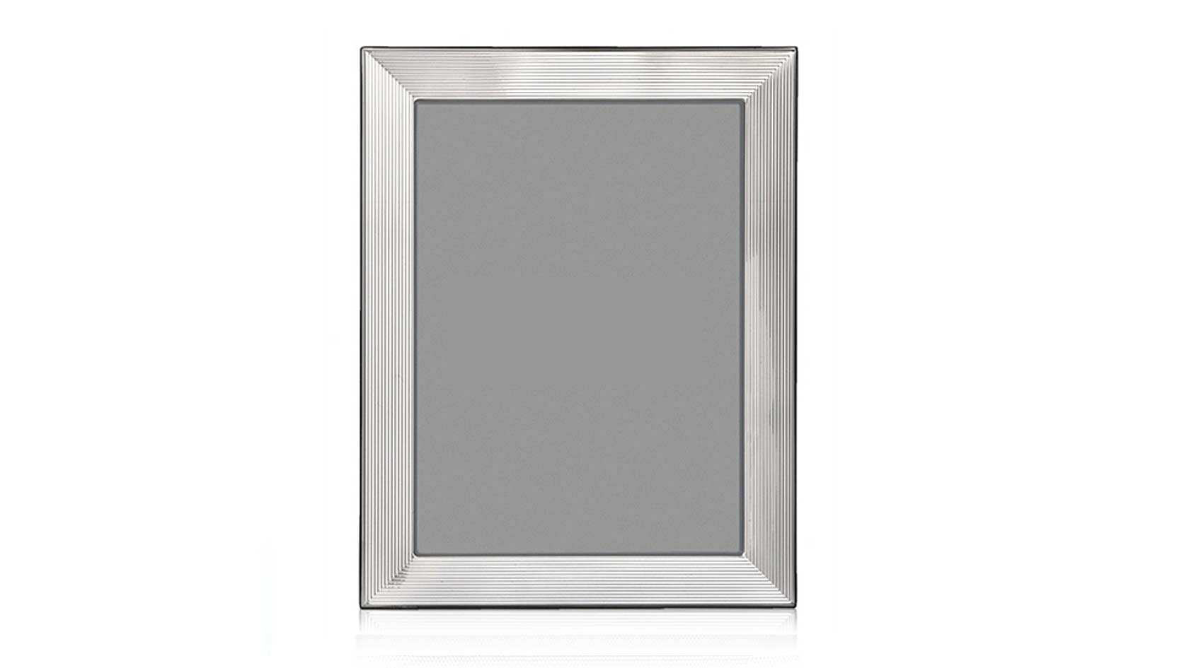 fluted sterling silver frame