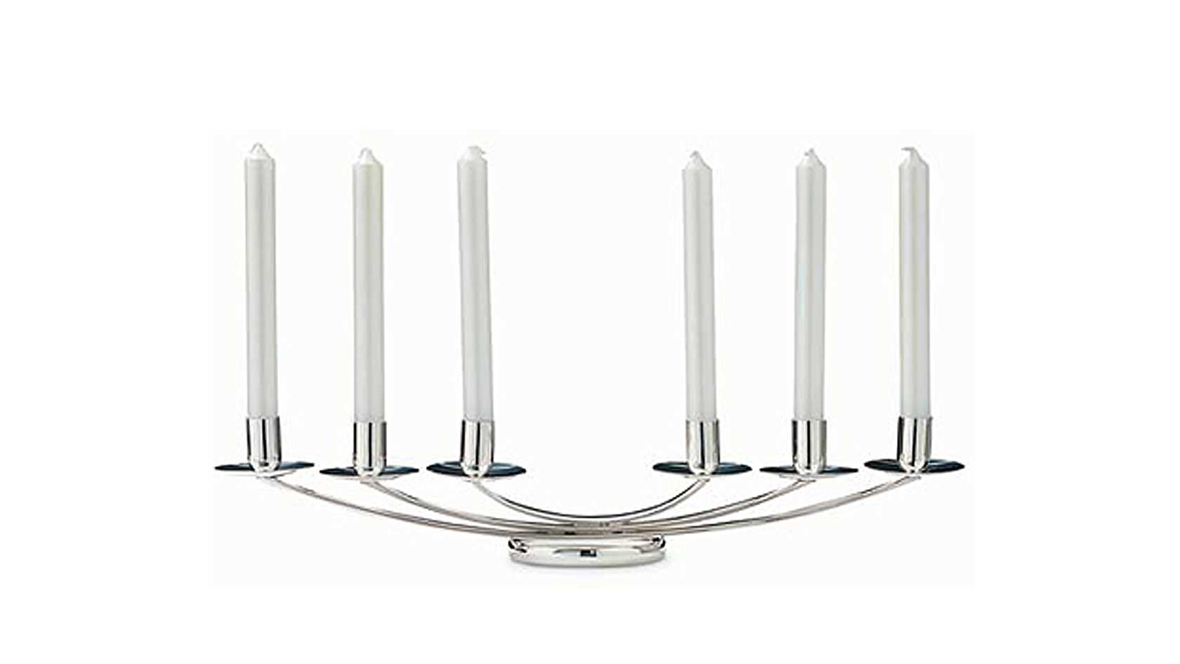 Olea Six Light Candelabra with Candles