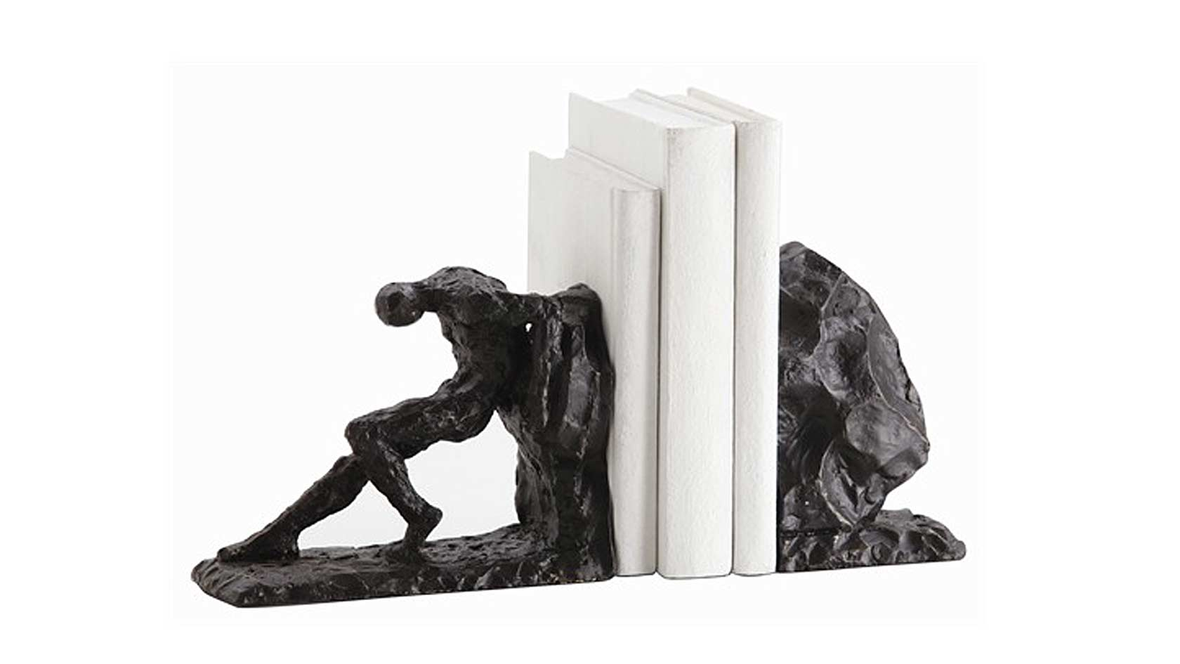 Man-and-Rock-Iron-Bookends