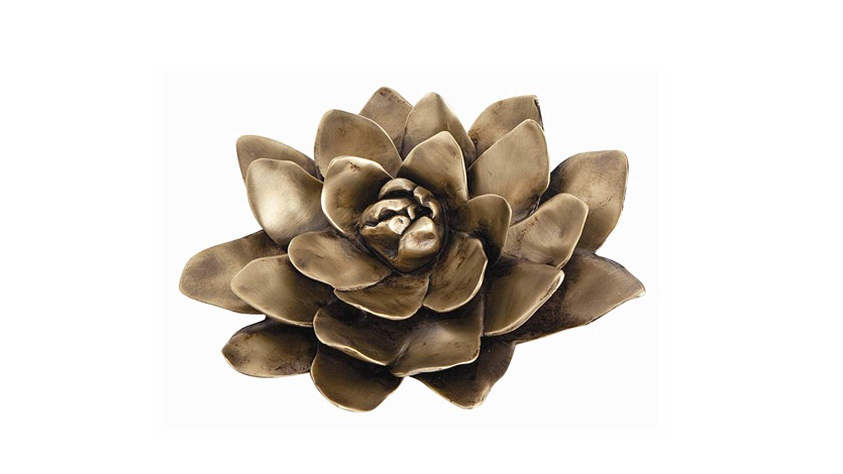 Flower Sculpture in Solid Brass