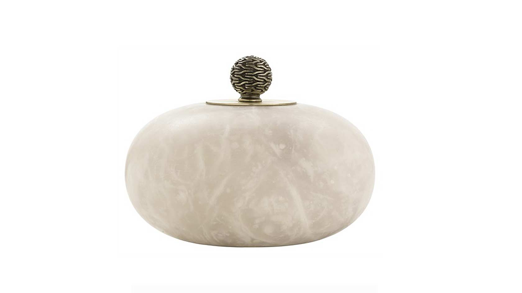 snow marble finial