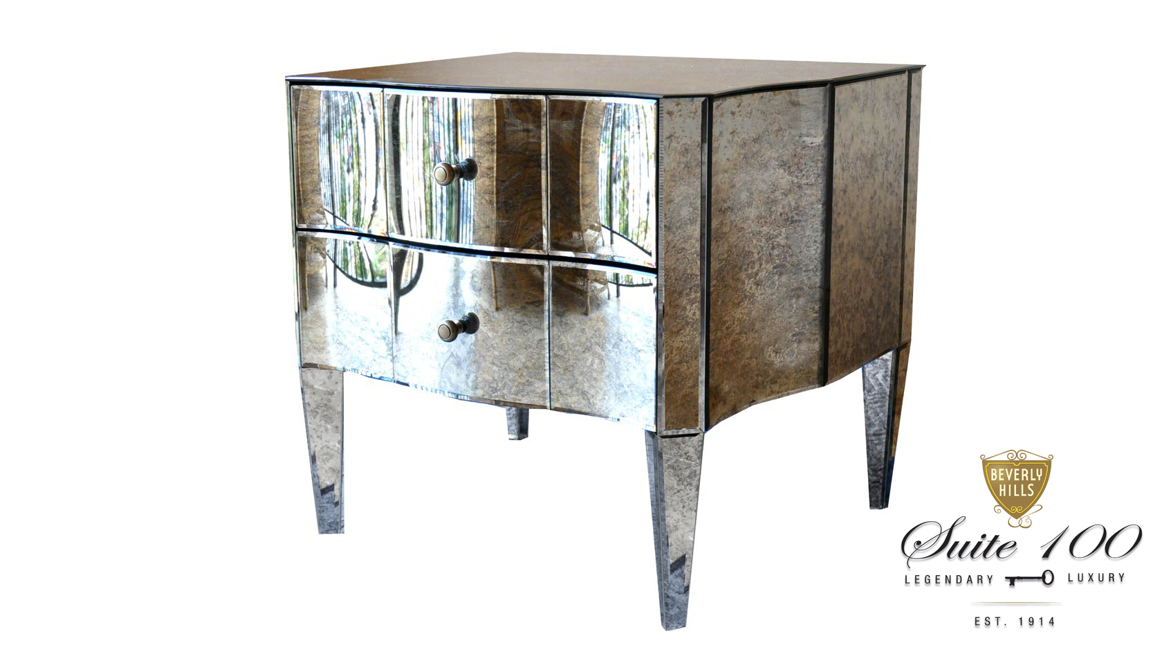 Anna May Mirrored Table