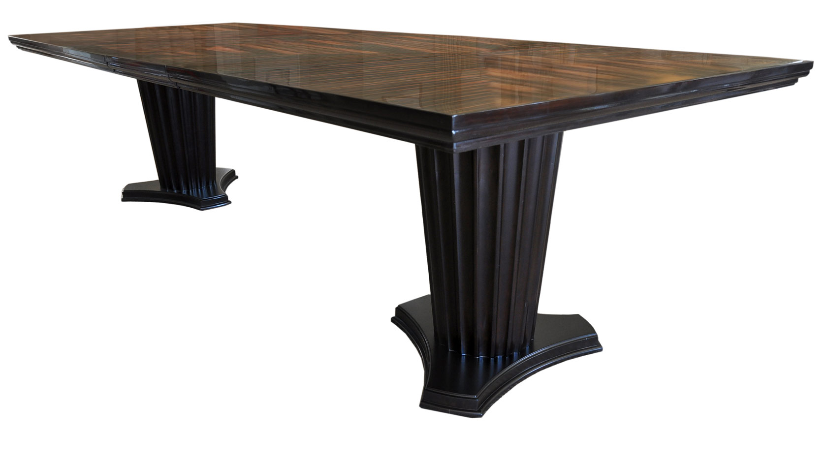 Plush home lexington pillar dining table for Pillar dining table