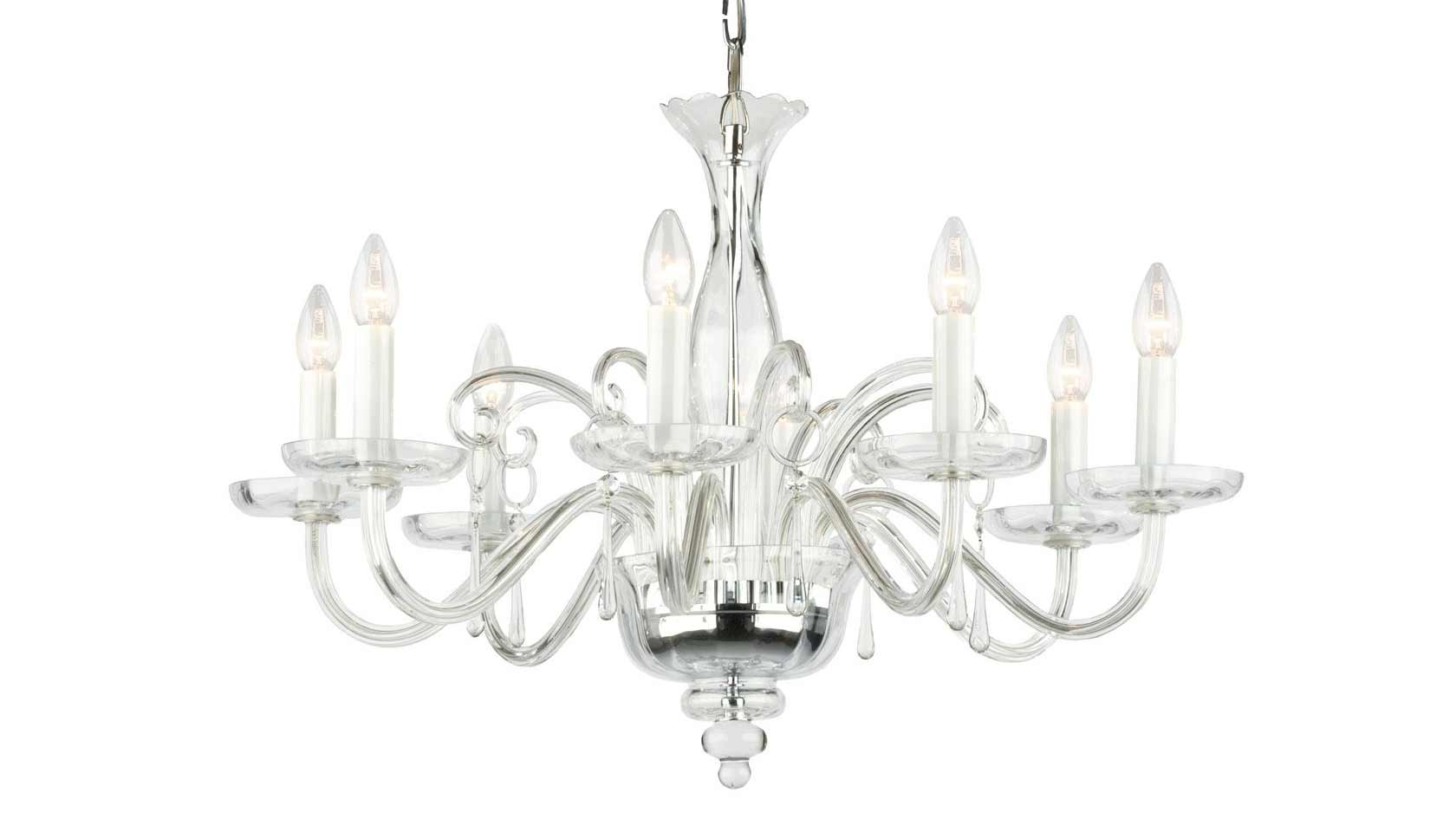 Bach 8-Arm Crystal Chandelier