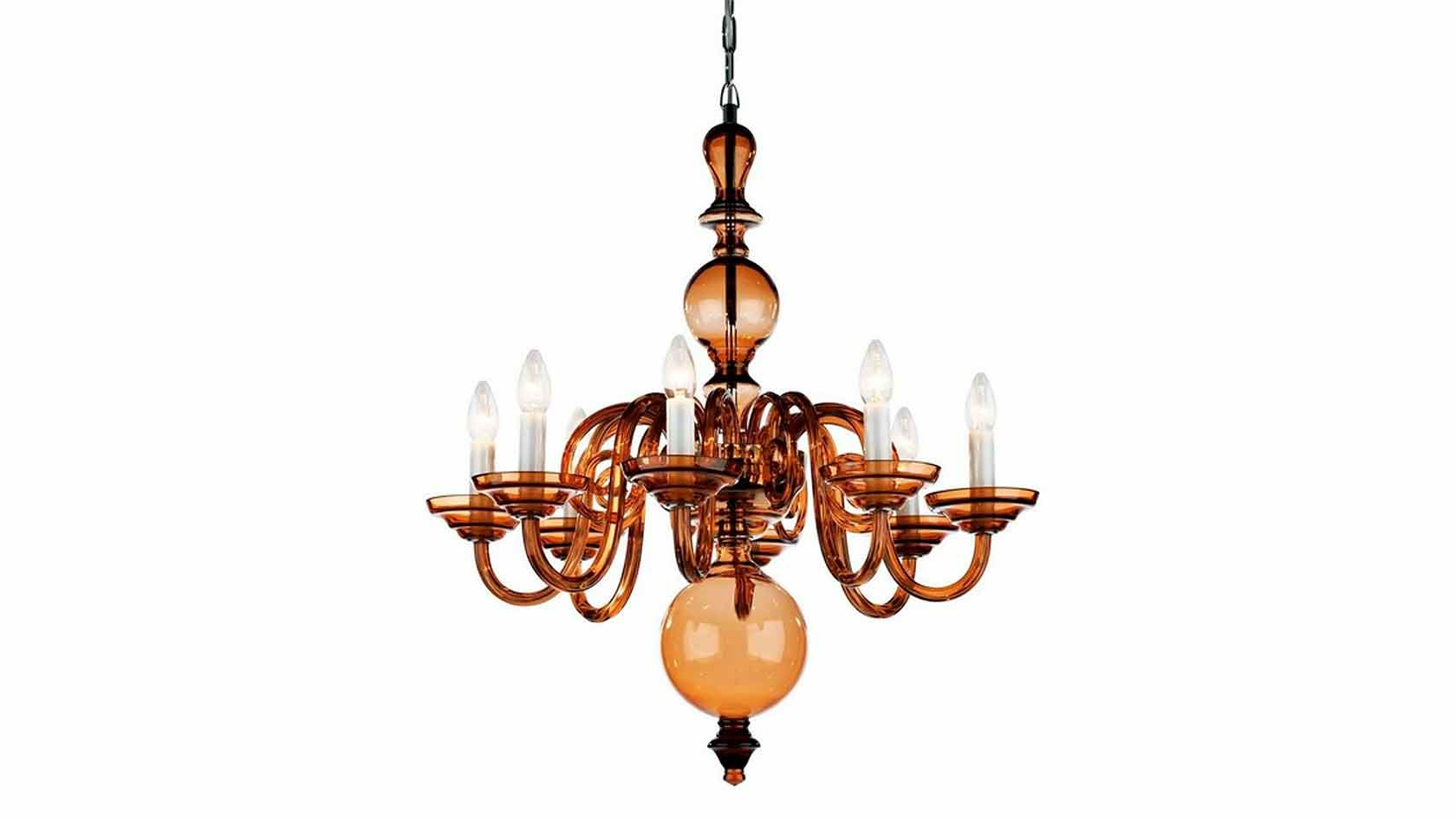 Tulip 8-Arm Chandelier in Smoky Taupe