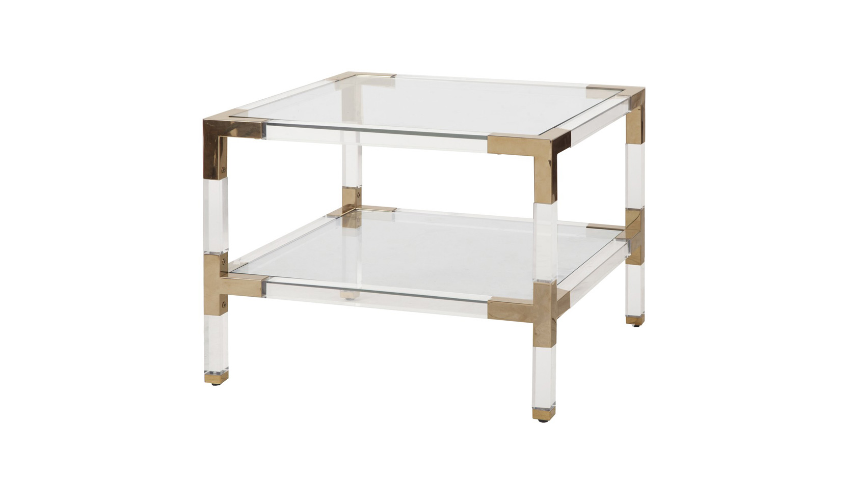Acrylic & Metal Side Table