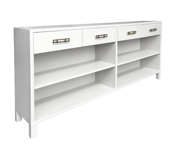Barcelona All-Leather Credenza