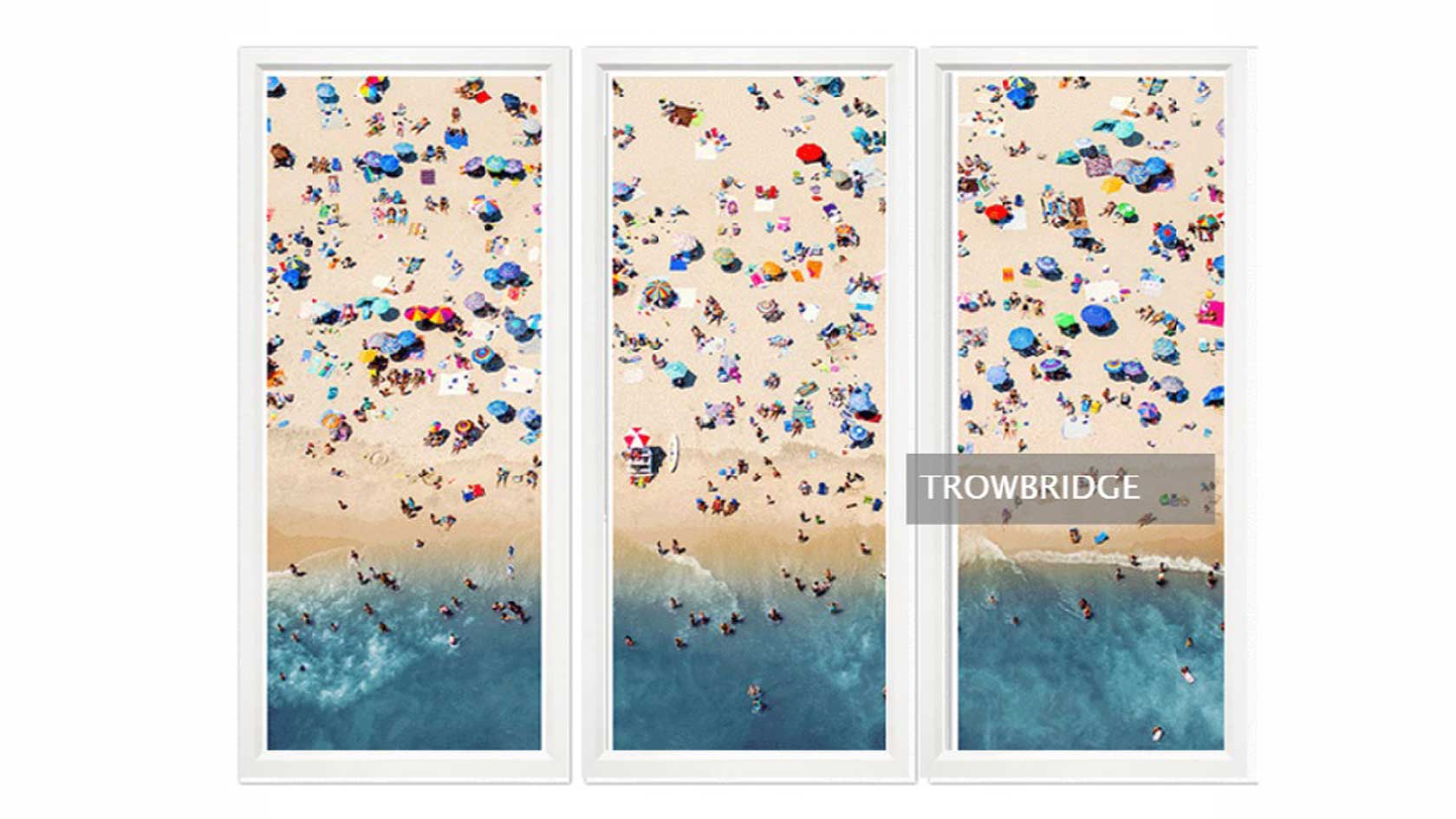 Aerial Beach Summer, Tryptic