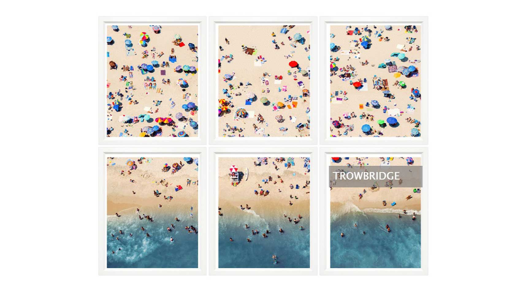 Aerial Summer Beach, series of 6
